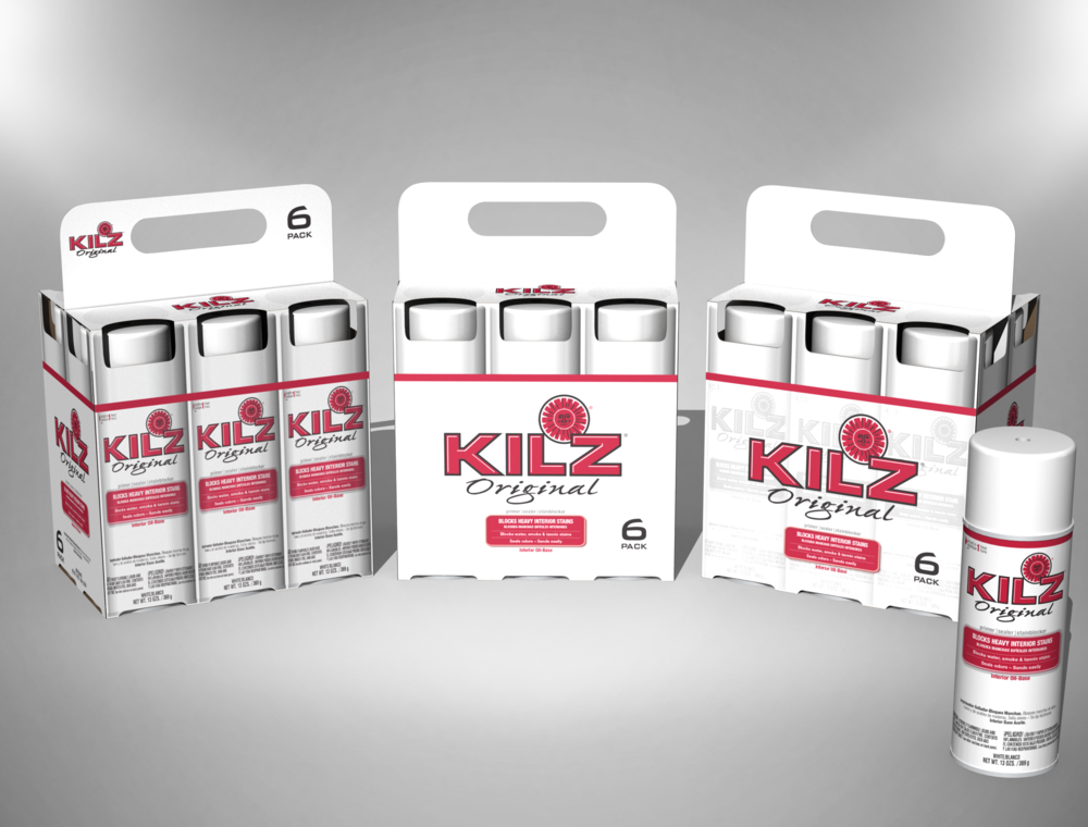 CONCEPT ART: KILZ® AEROSOL 6-PACK FOR HOME DEPOT