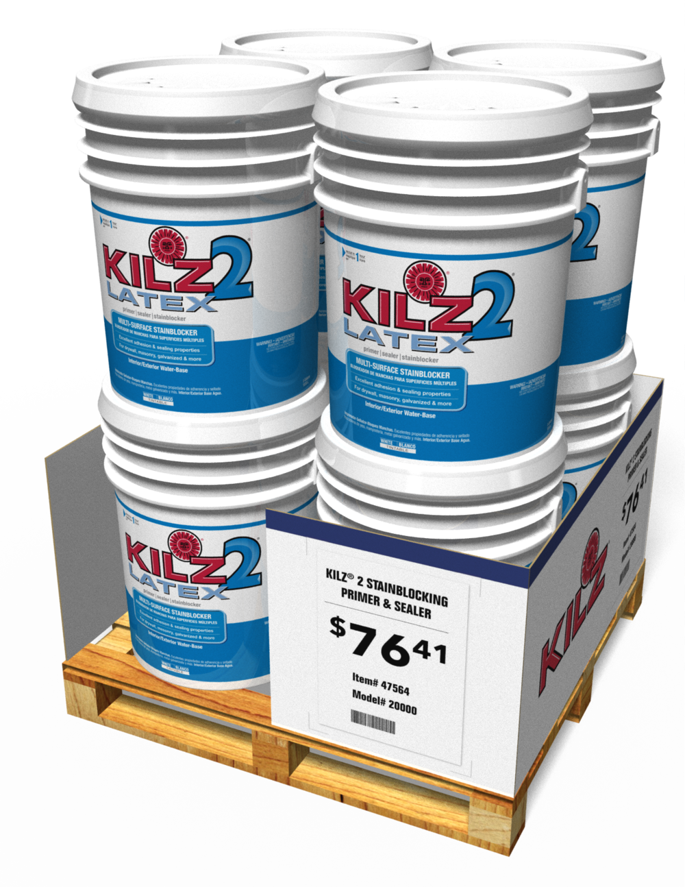 KILZ® 5-GALLON PALETTE SKIRT DISPLAY