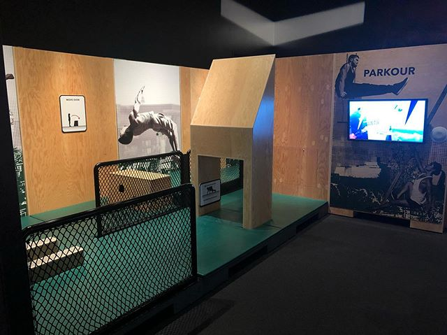 Got to play on the first ever parkour museum exhibit of which I co-designed with @ryanmford and @brandondouglass under our biz @ParkourEDU.  It was quite the joy. I hung out for a little while and watched people of all ages interact with it. As predicted, some kids got really into improving each time and just ran the obstacle course like a circuit as their parents looked on with the happiness that their kid was burning off all the energy that the parents wouldn't have to deal with later. I also heard misconceptions of how dangerous parkour is (we still have a lot of work to do on that one) and even had to listen to some older folks say that ninja warrior was better hahaha can't win em all.  If you're passing through the @denvermuseumns of nature and science (or your local museum as it's a traveling exhibit across North America) go see the Beyond Human Limits exhibit. The builders made some grave errors on the precision jump dimensions and a couple other things, but all in all, I'm happy we get to safely introduce parkour to so many people across North America with this exhibit :) Featured parkour demo @Parker.ale  #parkourscience #apexsom #parkouredu