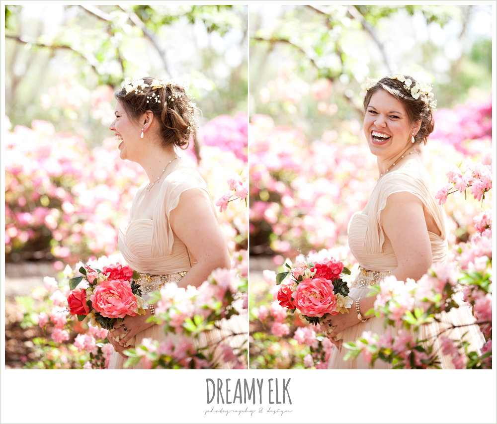 ashley, dallas arboretum bridals, bride laughing