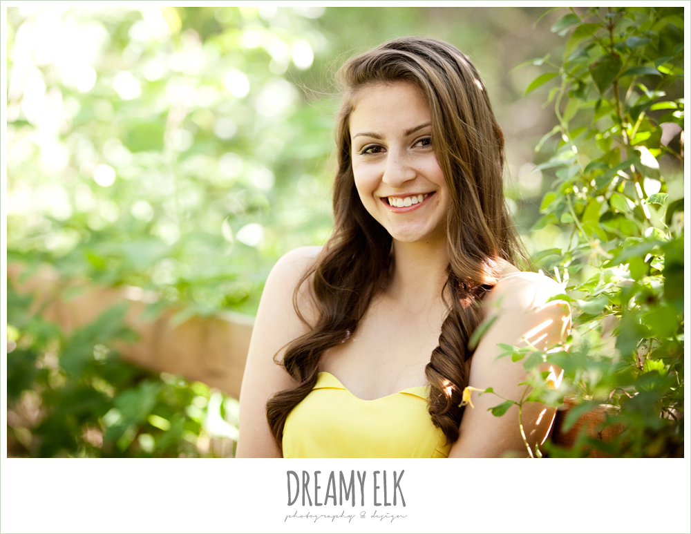evan high school senior yellow dress cute