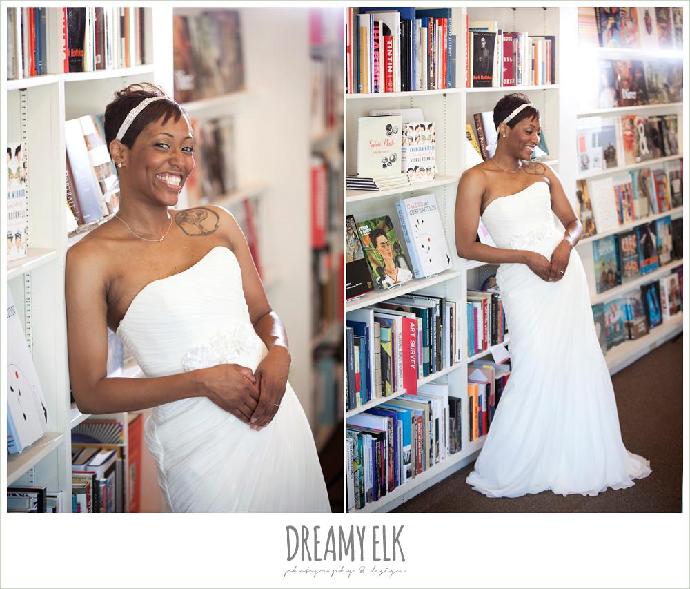 5 bre'onna, brazos bookstore bridals, bride with tattoos