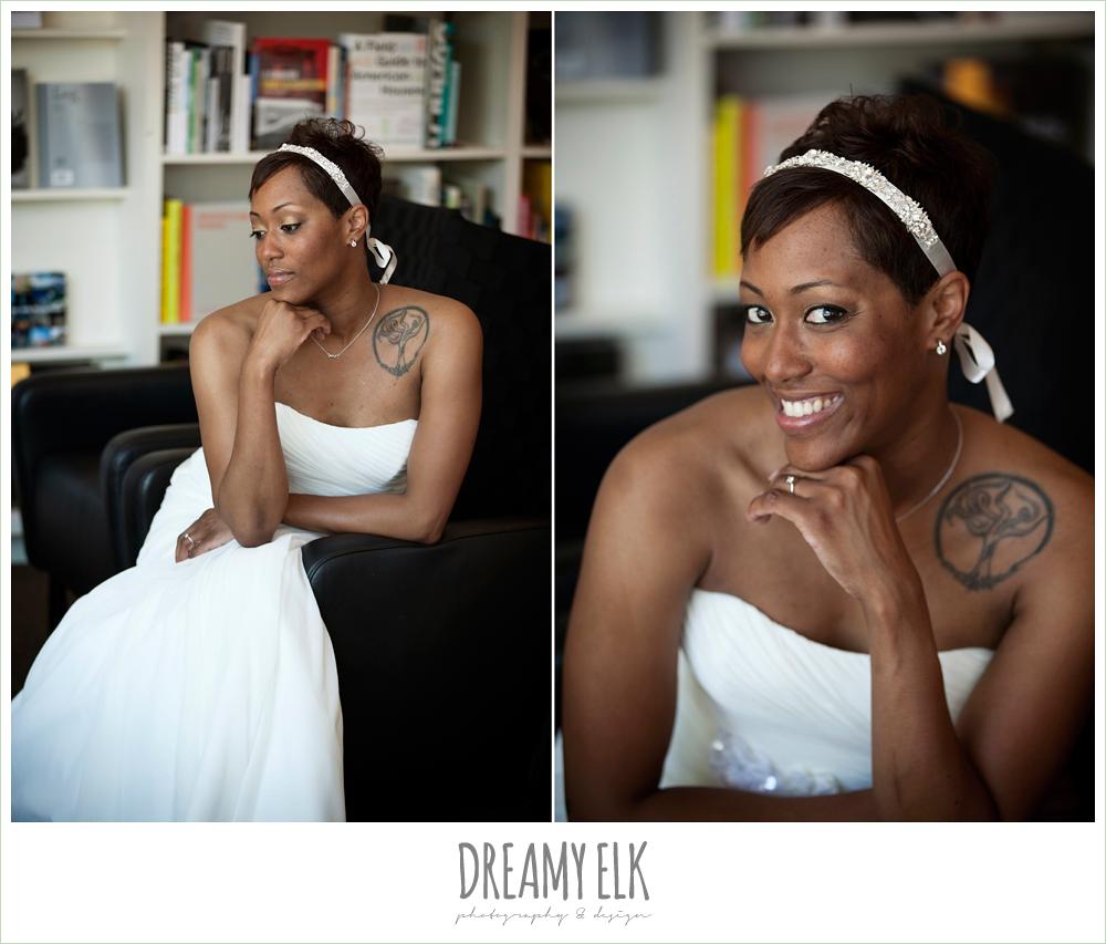 9 bre'onna, brazos bookstore bridals, bride with tattoos