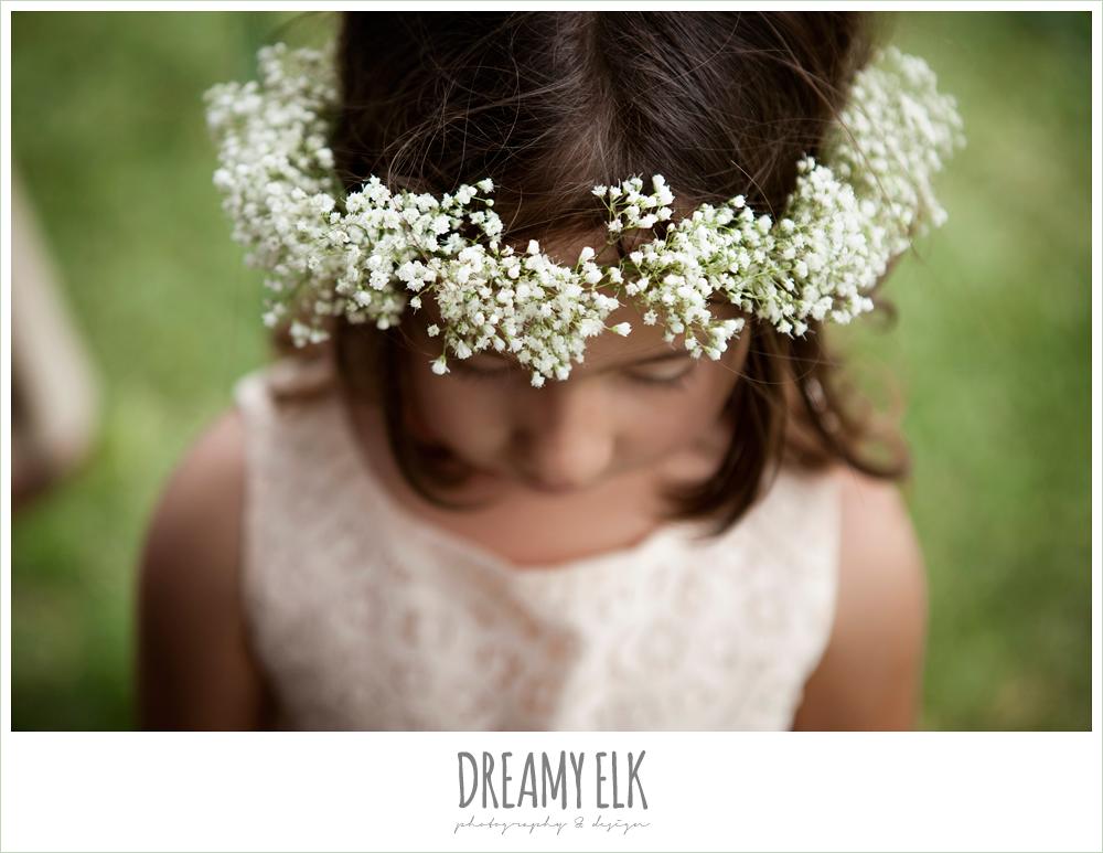 baby's breath flower wreath for flower girl