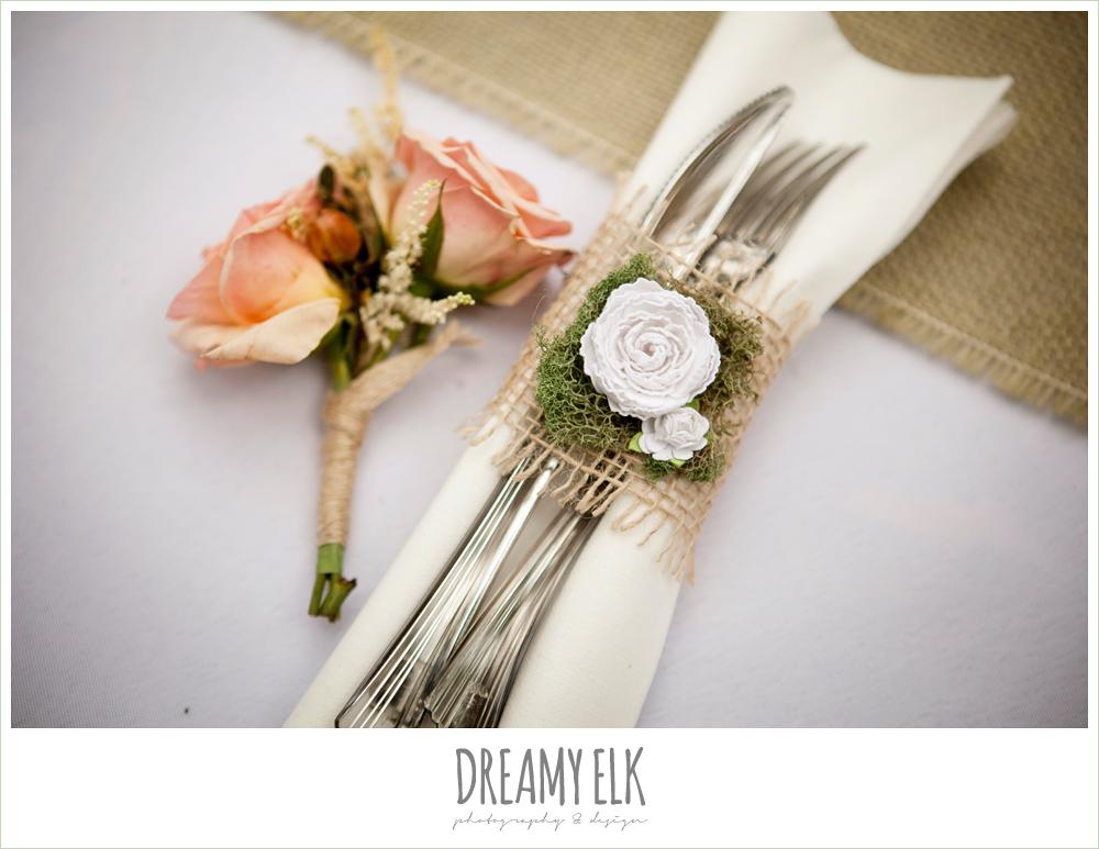 diy napkin rings, shabby chic wedding
