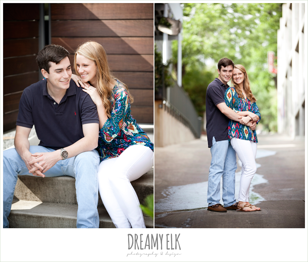 south congress austin, casual outdoor engagement photo