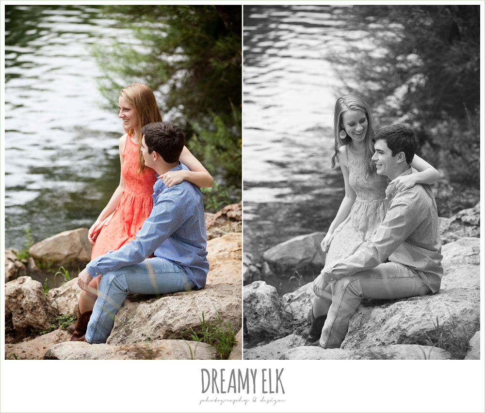 engagement photos by the river, austin