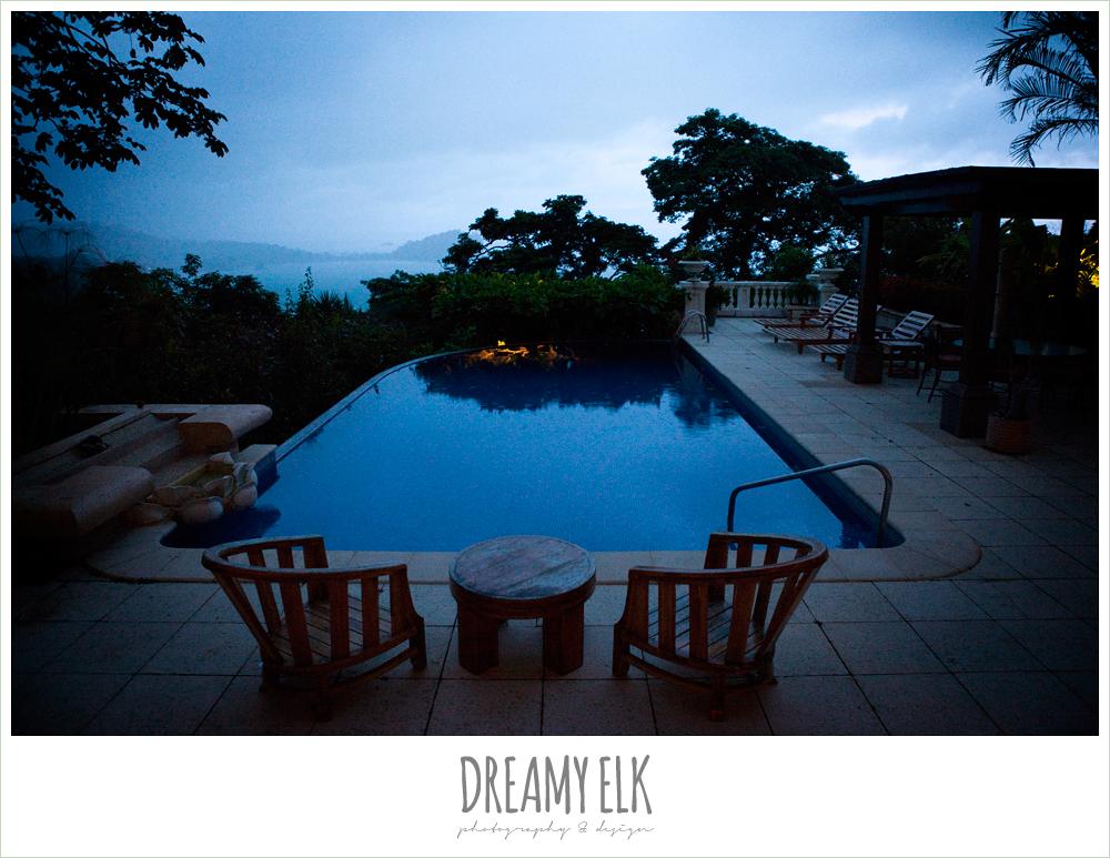 nighttime poolside, costa rica