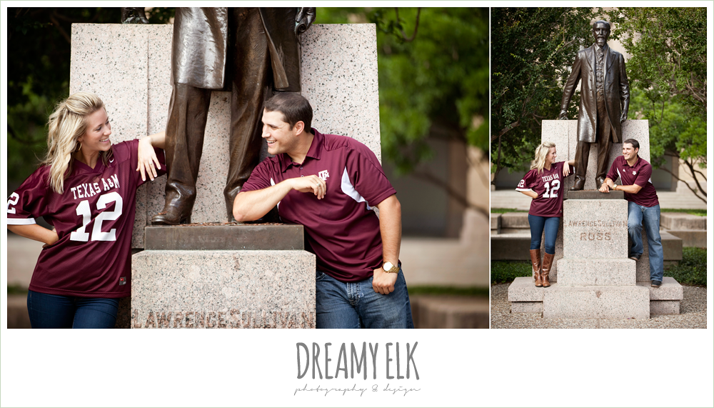 sul ross, texas a&m university, engagement photo