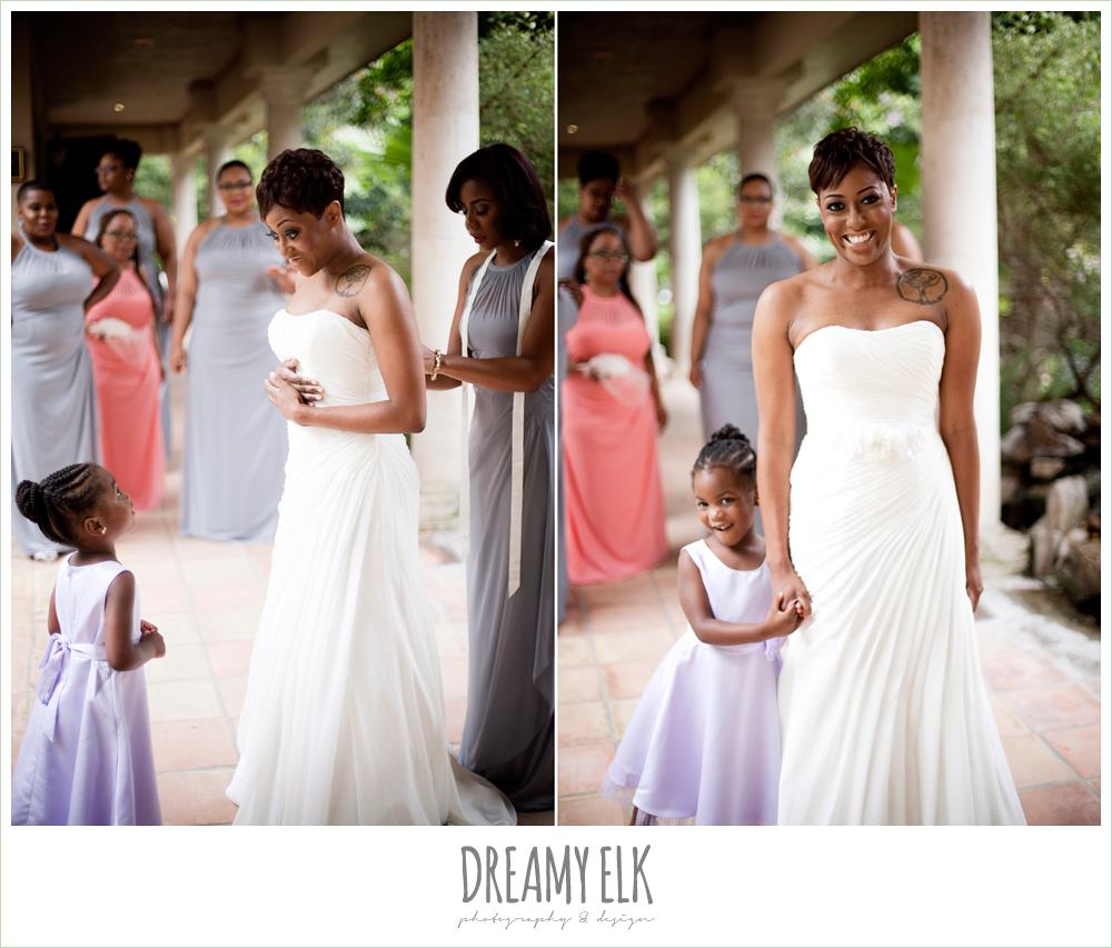 bride getting dressed, strapless wedding dress, northwest forest conference center, dreamy elk photography and design