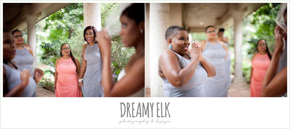 bridesmaids' reaction to bride, northwest forest conference center, dreamy elk photography and design
