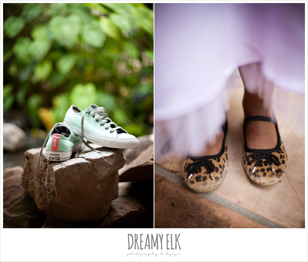 custom green and pink wedding converse, leopard flats, northwest forest conference center, dreamy elk photography and design