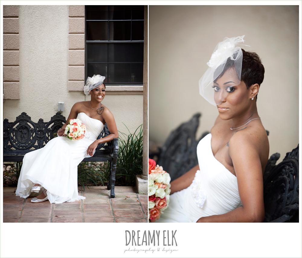 strapless wedding dress, birdcage veil, northwest forest conference center, dreamy elk photography and design