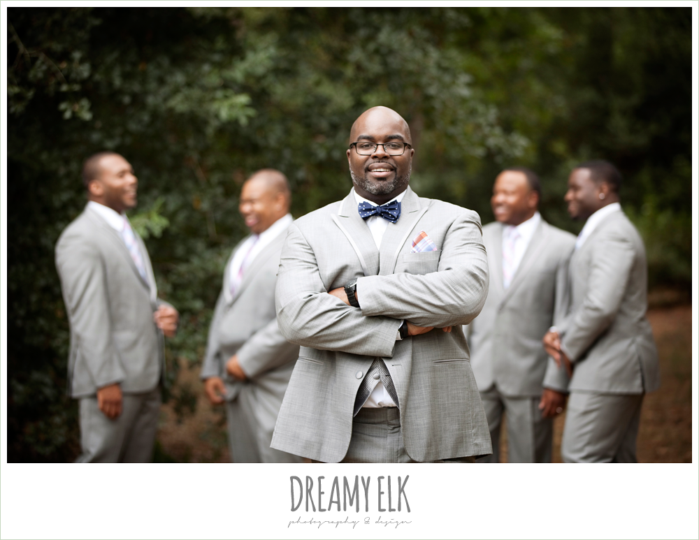 gray suits and navy bow tie, northwest forest conference center, dreamy elk photography and design
