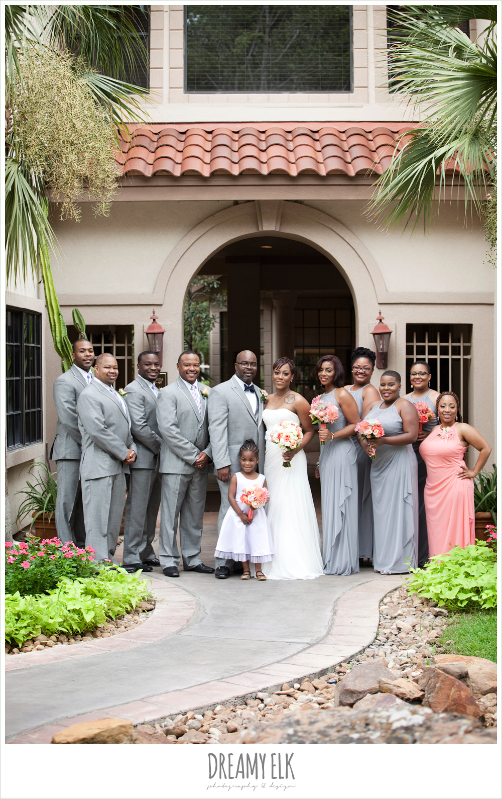 gray suits, gray bridesmaid dress, northwest forest conference center, dreamy elk photography and design