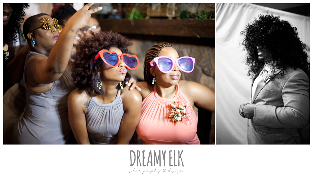 funny guests in photobooth at wedding, northwest forest conference center, dreamy elk photography and design