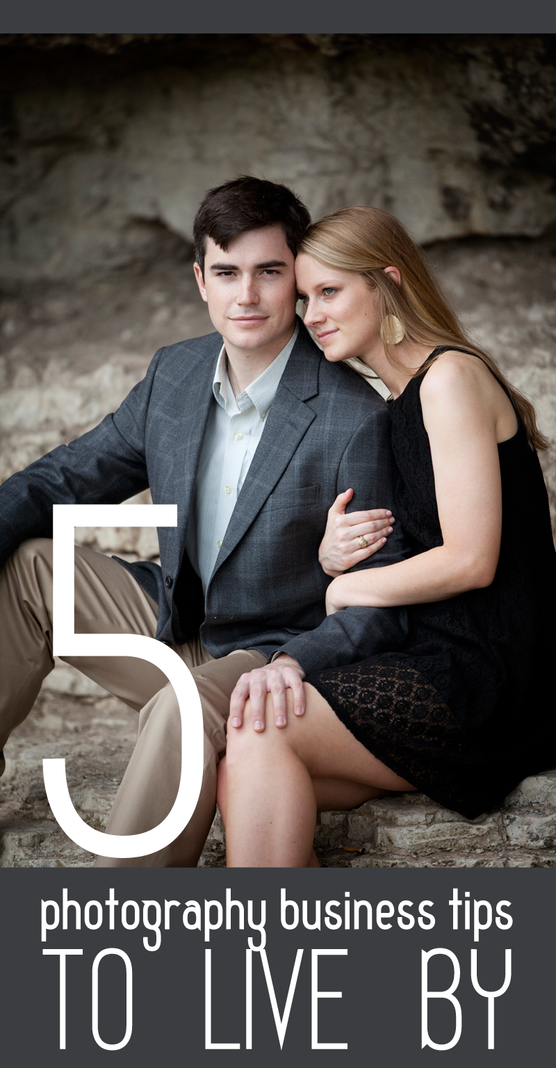 5 photography business tips to live by, austin engagement photo