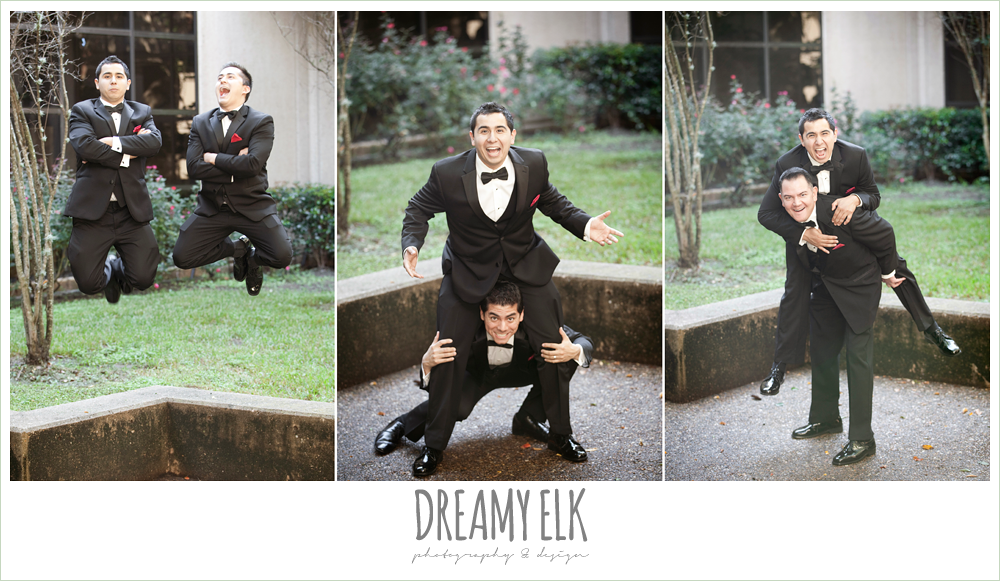 funny groom and groomsmen photo, dreamy elk photography and design