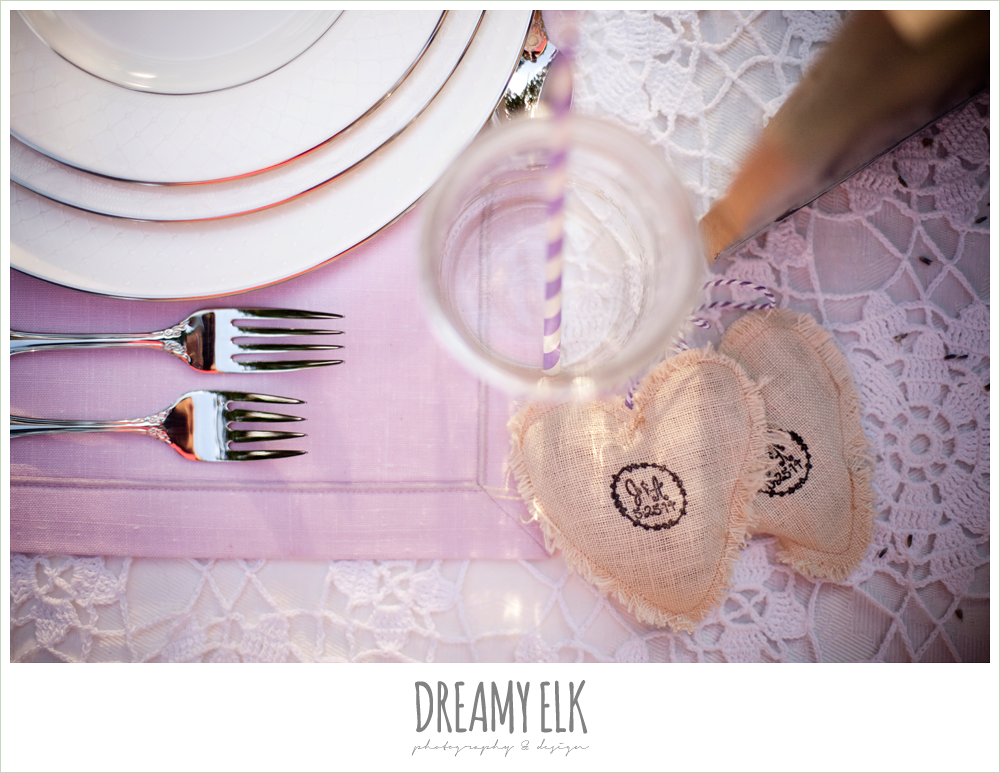 sweetheart table, lavender, lace, burlap, rustic chic post wedding shoot, dreamy elk photography and design