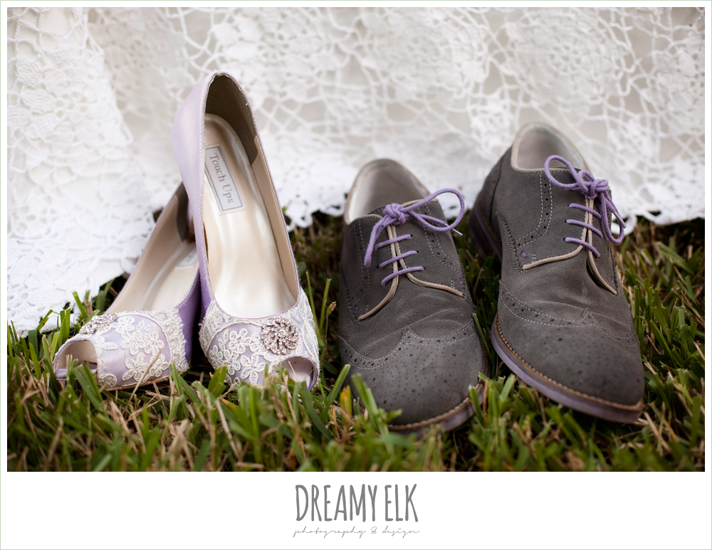 lavender and lance wedding shoes, gray suede groom's shoes, rustic chic post wedding shoot, dreamy elk photography and design