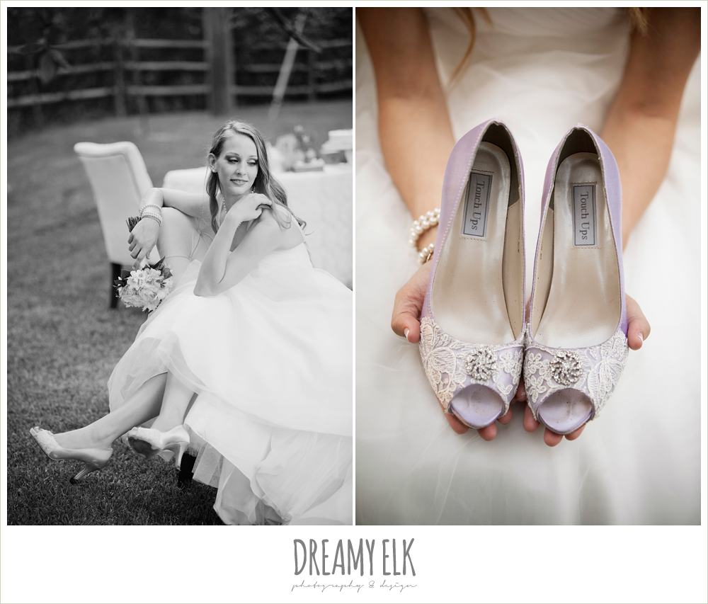 lavender and lace wedding shoes, rustic chic post wedding shoot, dreamy elk photography and design
