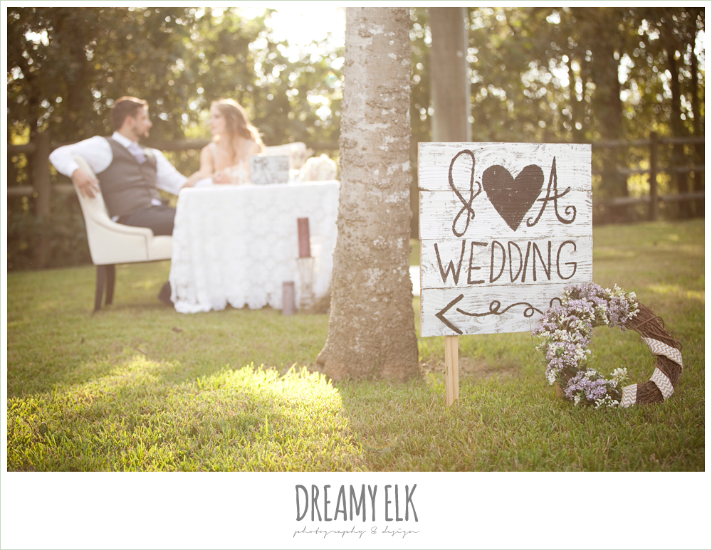 sweetheart table, wedding signage, rustic chic post wedding shoot, dreamy elk photography and design