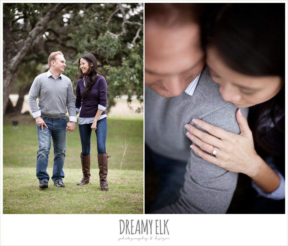 shin and derek, winter engagements in the woods, dreamy elk photography and design