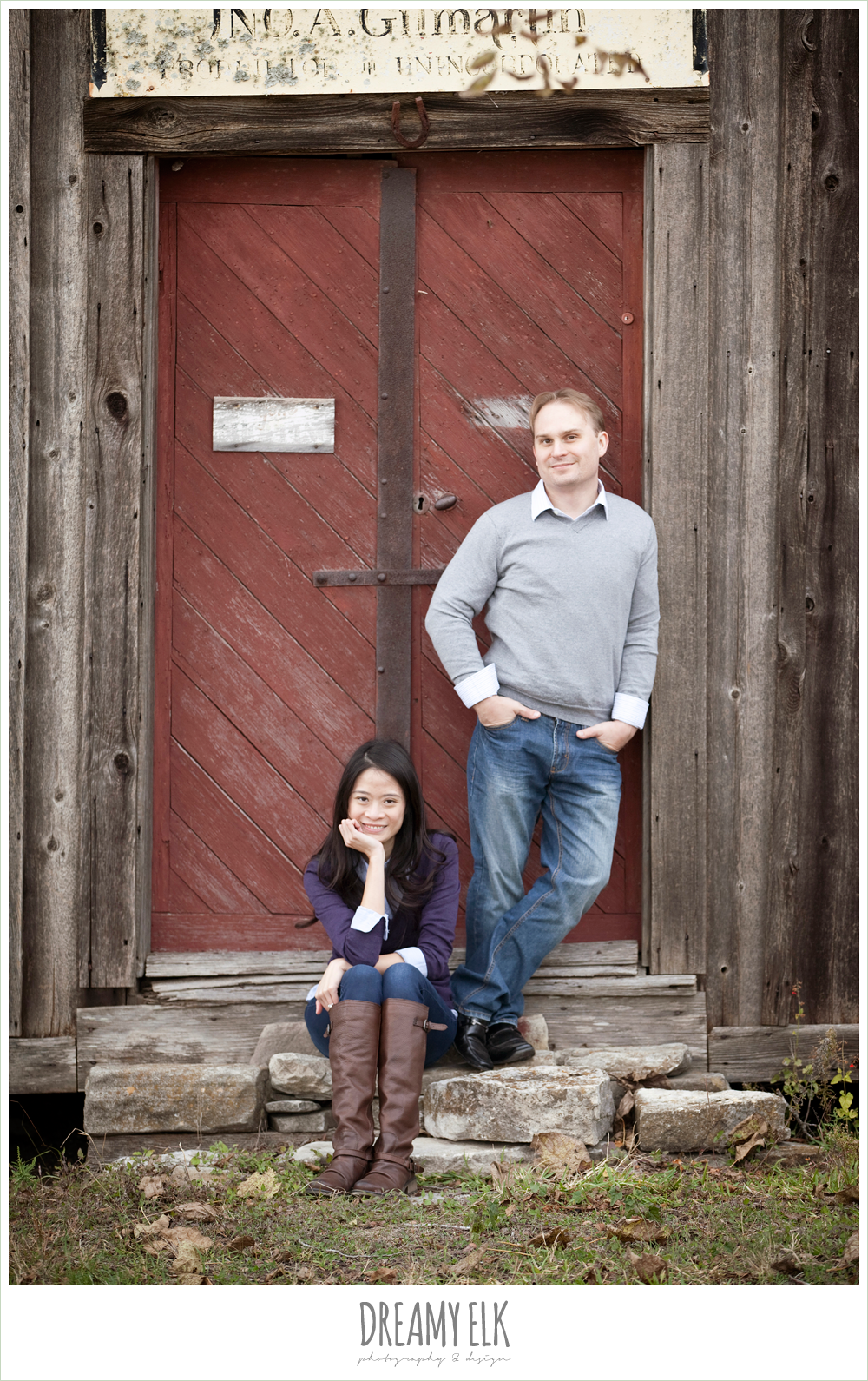 shin and derek, rustic winter engagements, dreamy elk photography and design