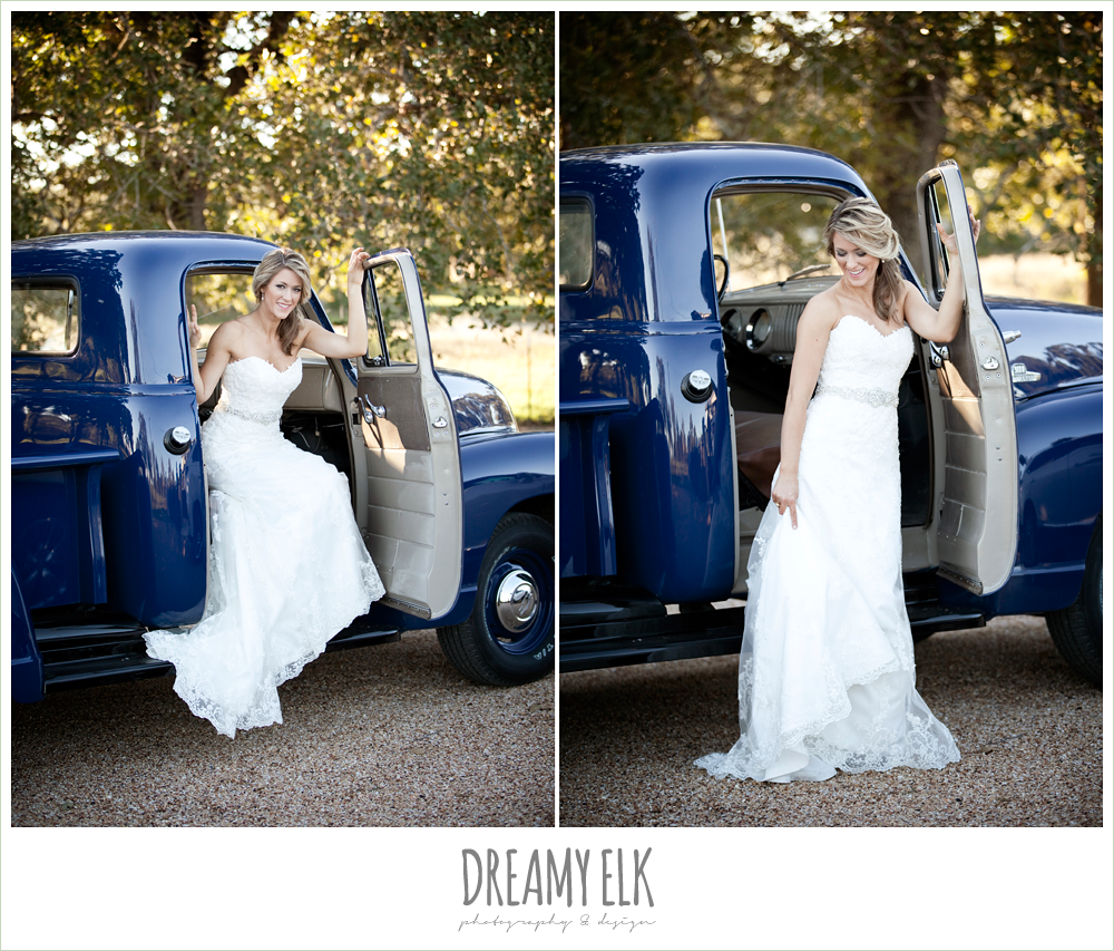 lauren, rock lake ranch, rustic fall bridal photos, vintage chevy truck, dreamy elk photography and design