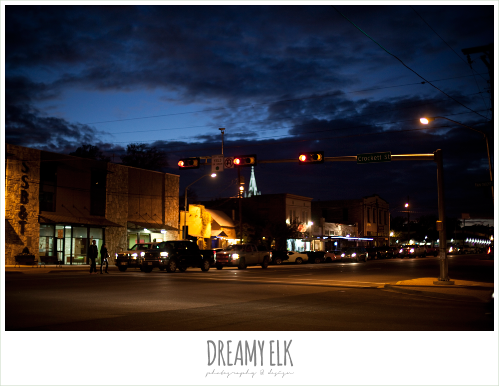 fredericksburg, texas, at night