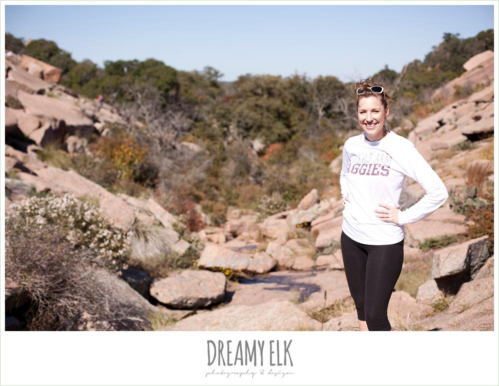 hiking on enchanted rock, fredericksburg, texas