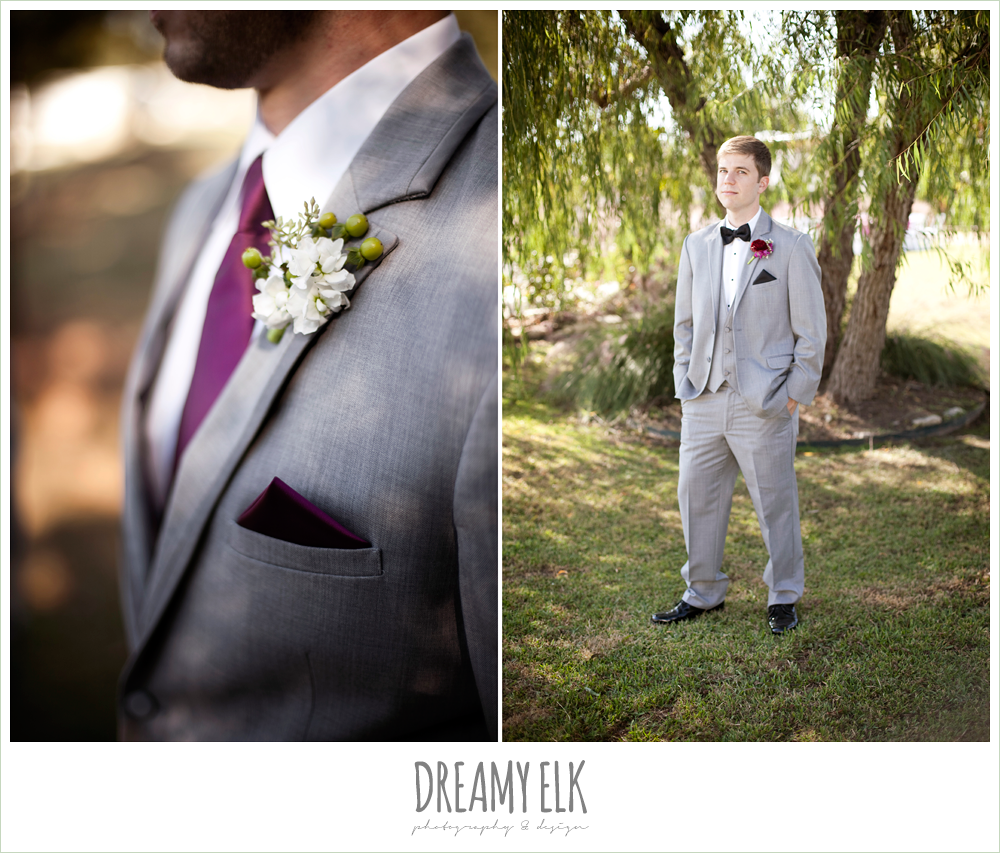 busy lil bee florals, berry and white boutonnieres, the inn at quarry ridge, dreamy elk photography and design