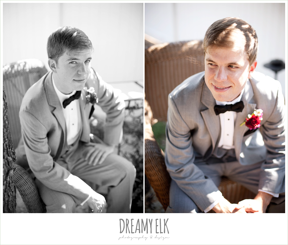 groom in a gray suit, october wedding, inn at quarry ridge, dreamy elk photography and design
