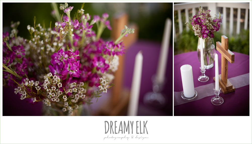 ceremony flowers, unity candle, october wedding, inn at quarry ridge, dreamy elk photography and design