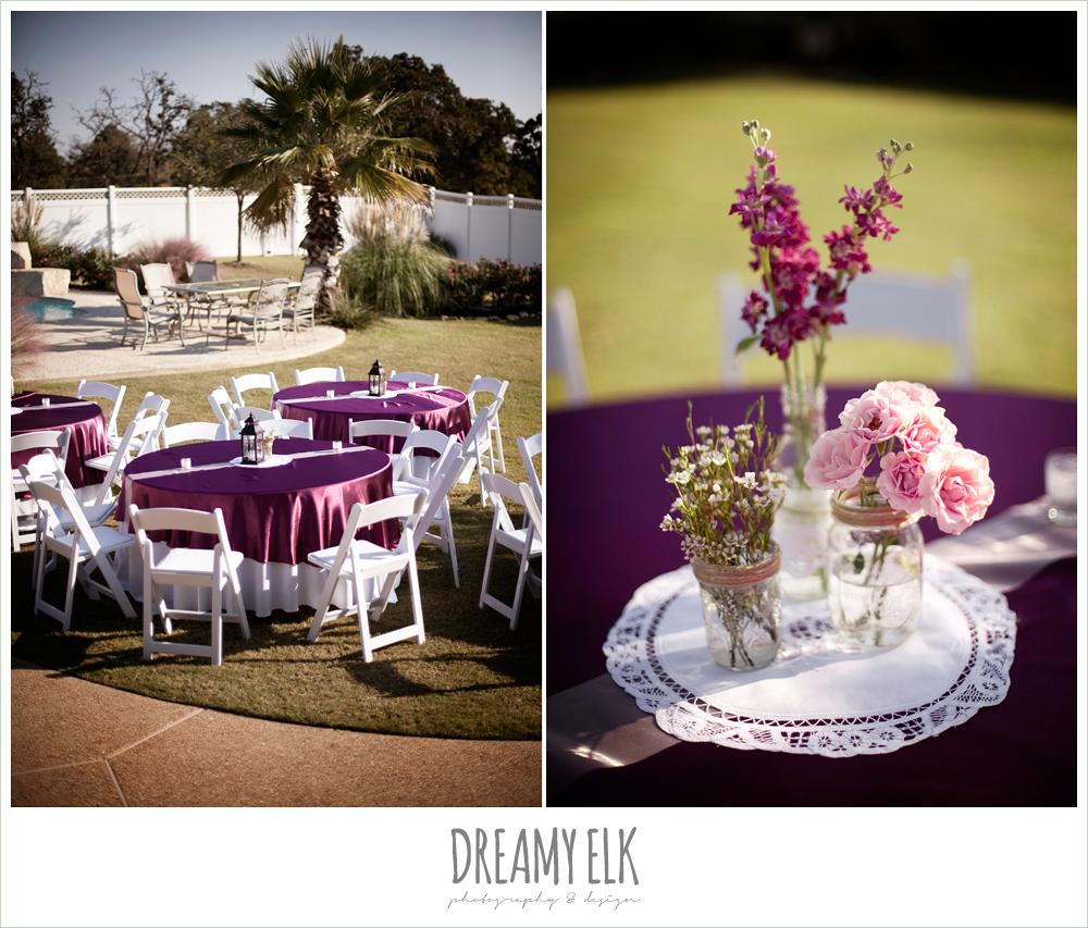 outdoor reception decor, october wedding, inn at quarry ridge, dreamy elk photography and design