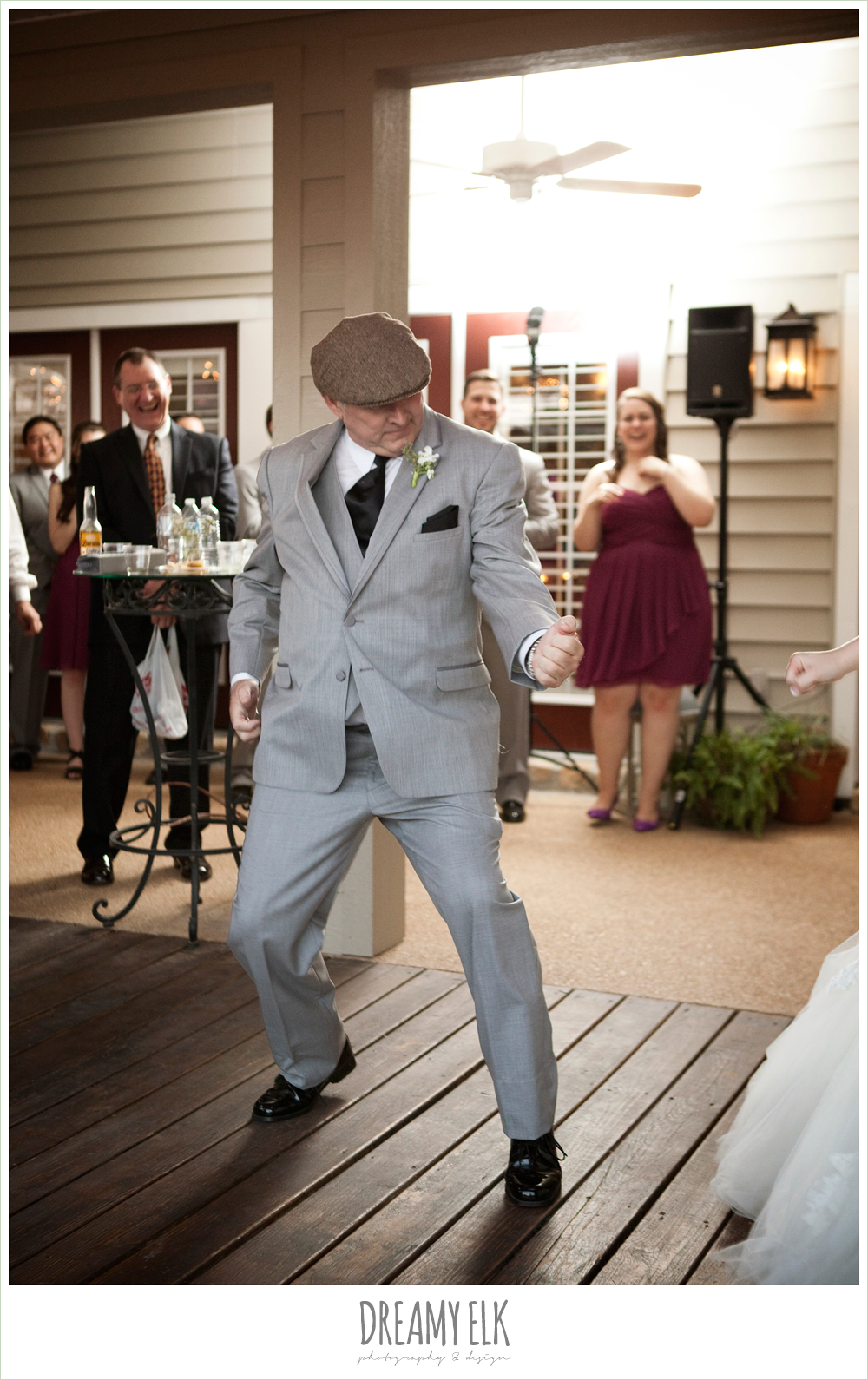 funny, father of the bride dancing, october wedding, inn at quarry ridge, dreamy elk photography and design