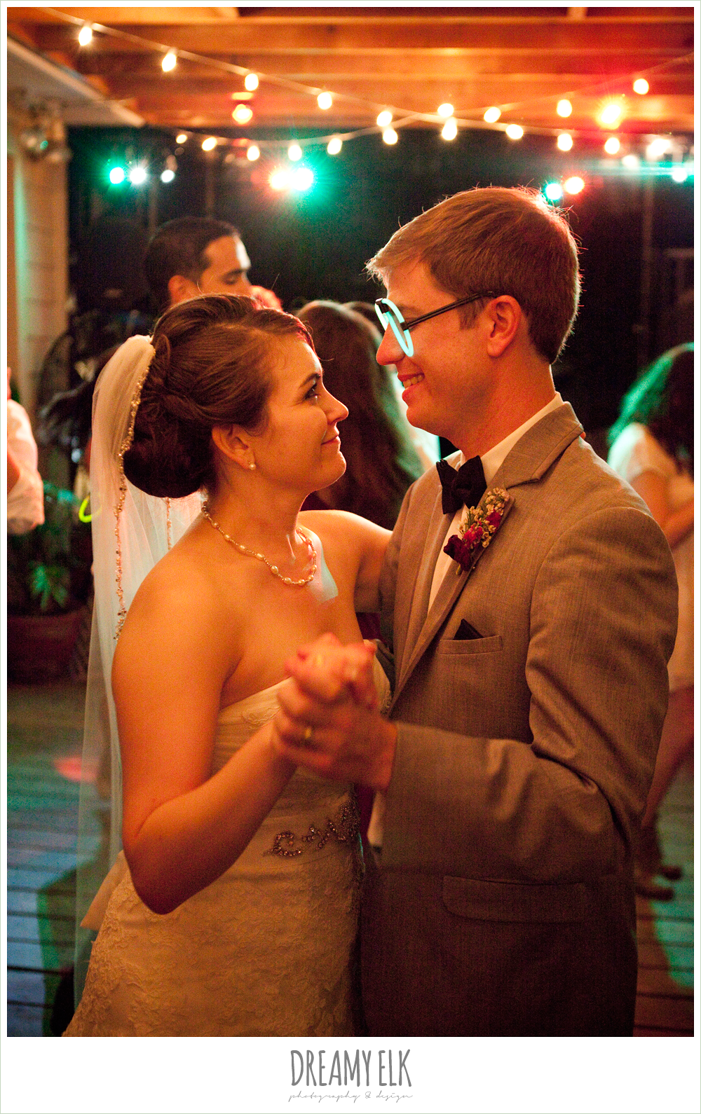 bride and groom dancing with glow sticks, october wedding, inn at quarry ridge, dreamy elk photography and design