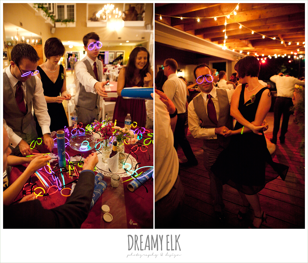 dancing with glow sticks, october wedding, inn at quarry ridge, dreamy elk photography and design