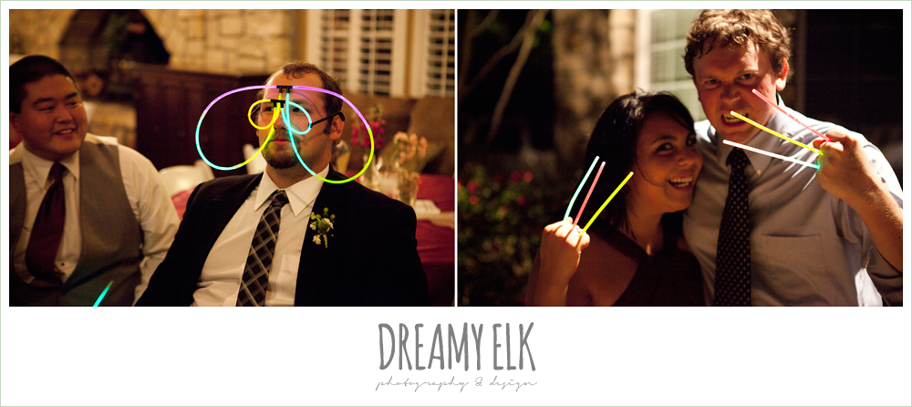 wedding guests with glow sticks, october wedding, inn at quarry ridge, dreamy elk photography and design