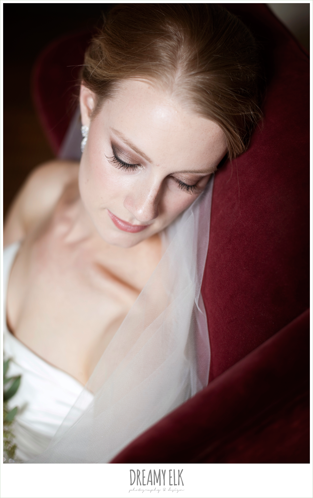 indoor bridal photo, dreamy elk photography and design