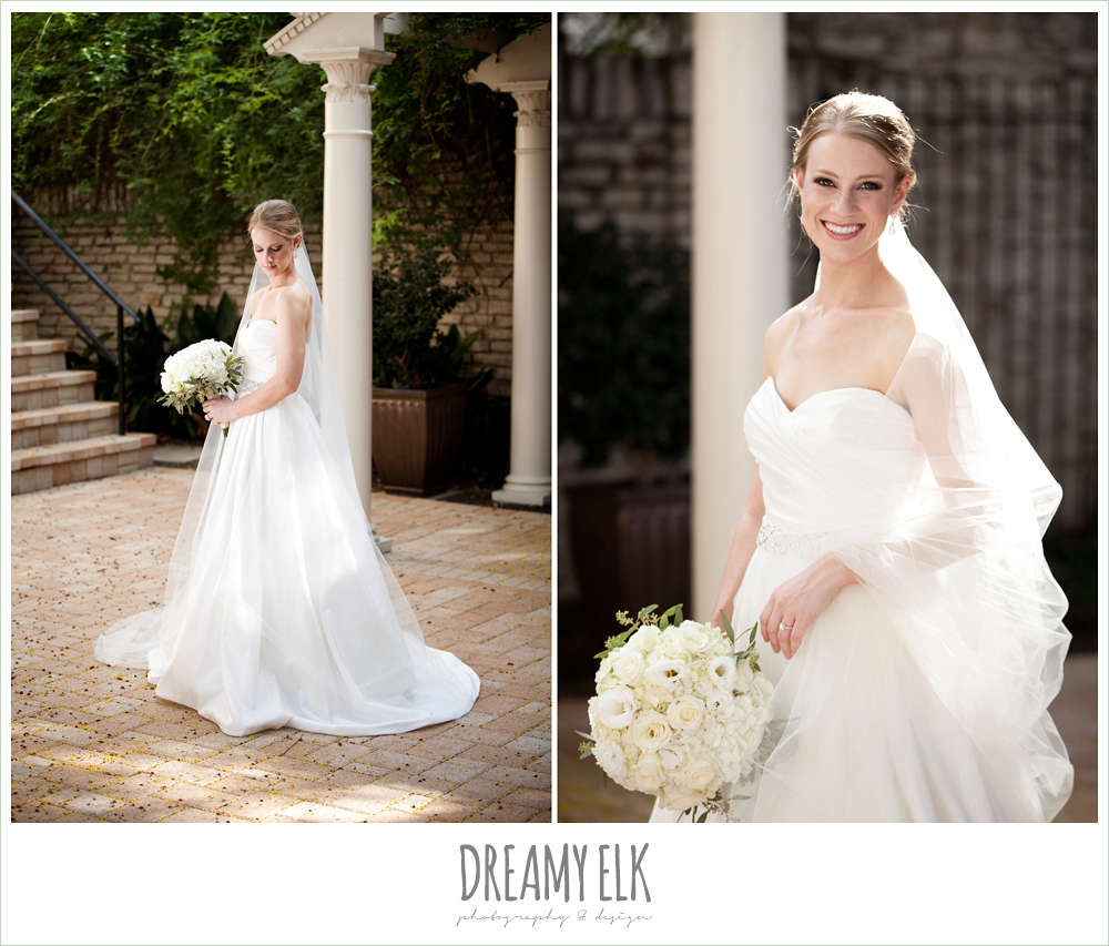 outdoor bridal photo, cathedral length veil, dreamy elk photography and design