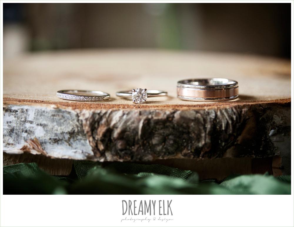 wedding rings, winter vineyard wedding, dreamy elk photography and design