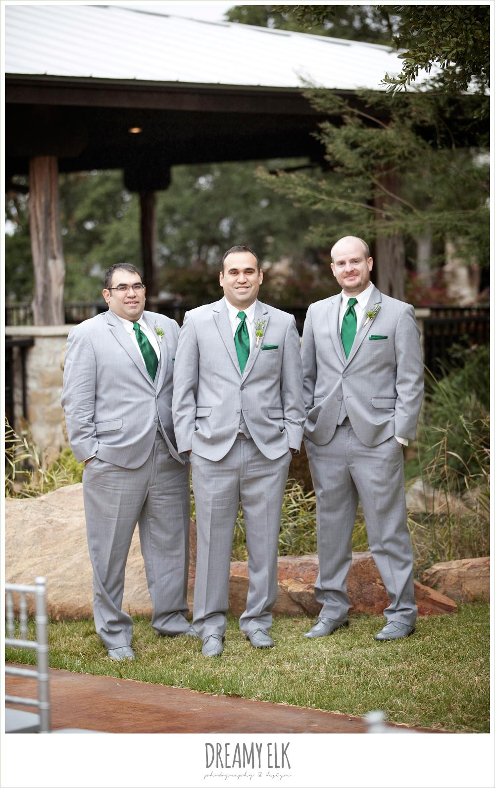 groom and groomsmen in gray suits, winter vineyard wedding, dreamy elk photography and design
