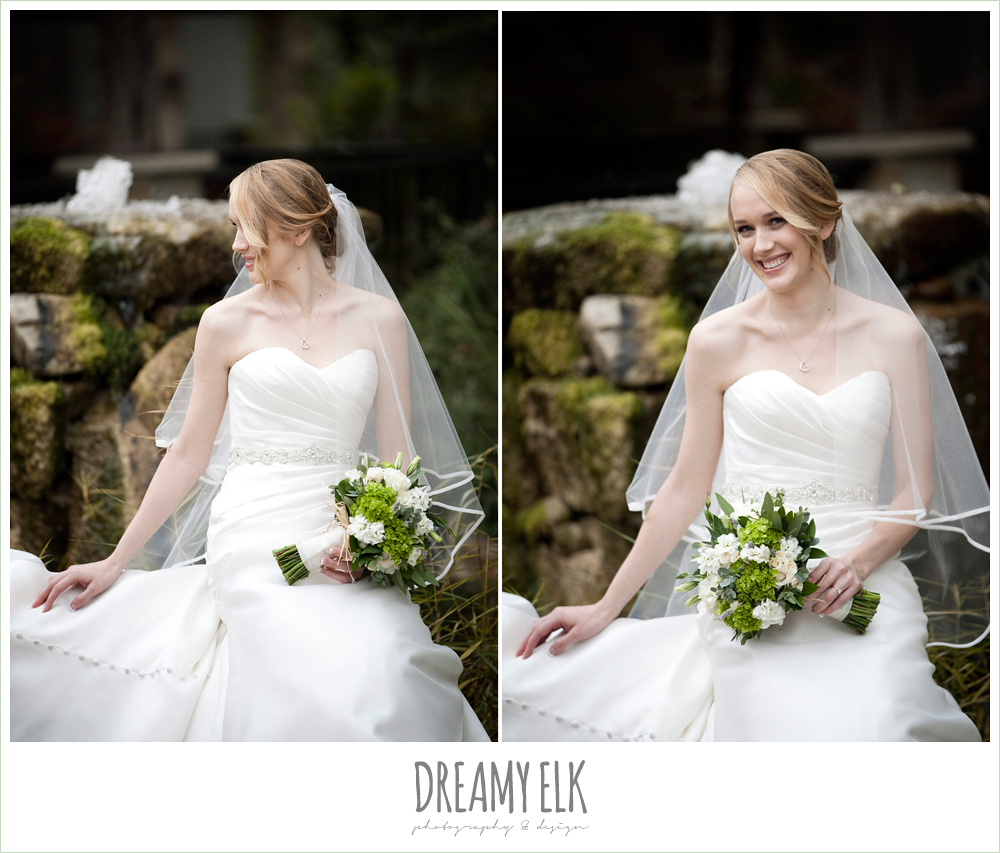 sweetheart strapless wedding dress, winter vineyard wedding, dreamy elk photography and design