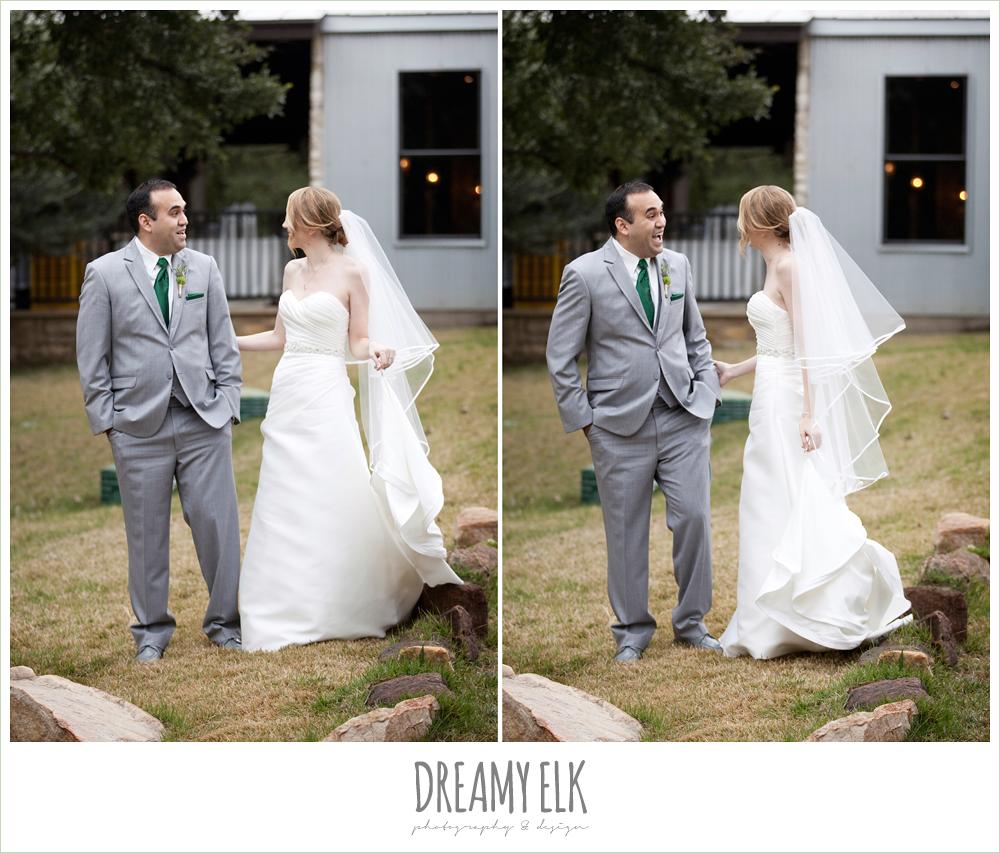 bride and groom, first look, winter vineyard wedding, dreamy elk photography and design