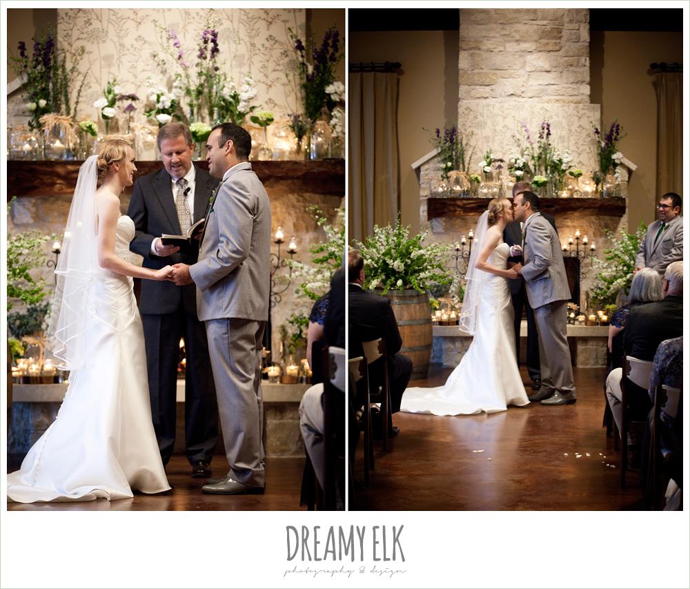 indoor wedding ceremony, winter vineyard wedding, dreamy elk photography and design