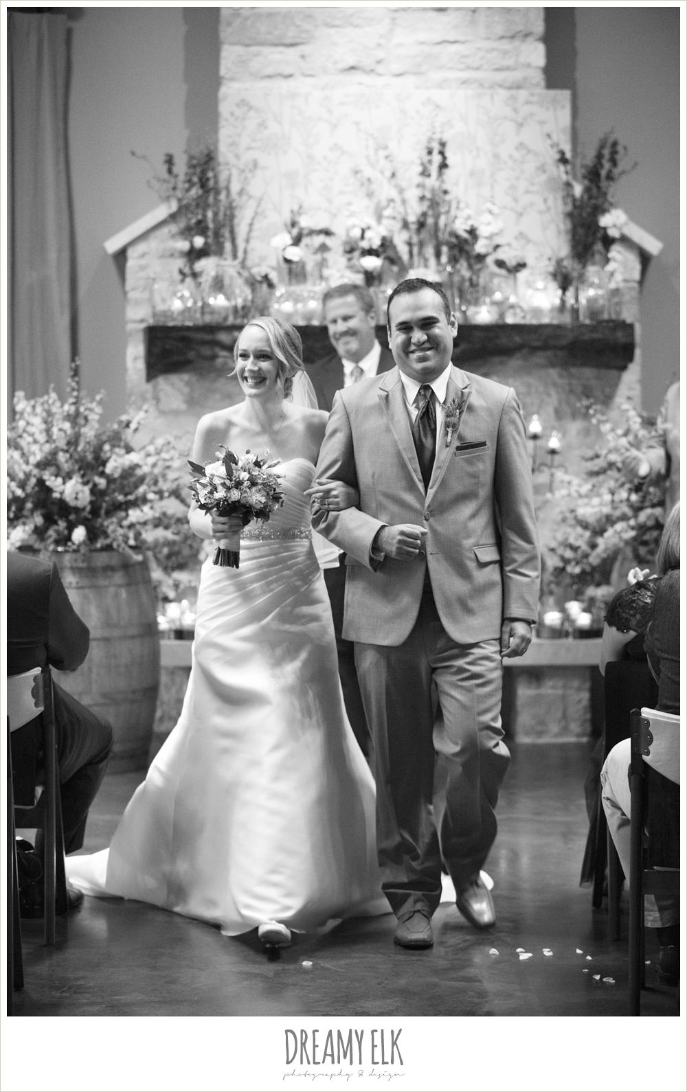 black and white, indoor wedding ceremony, winter vineyard wedding, dreamy elk photography and design
