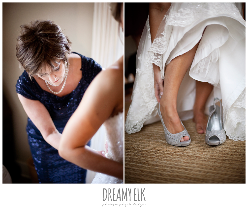 silver high heel wedding shoes, bride getting dressed, fall wedding, rock lake ranch, dreamy elk photography and design