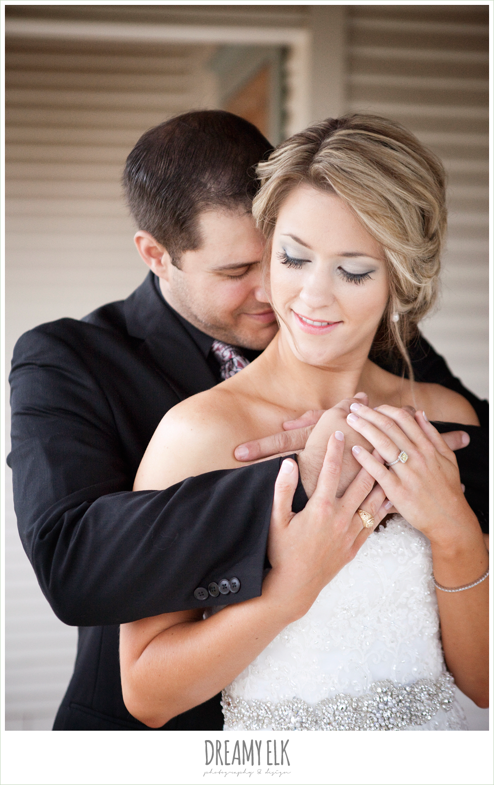 bride and groom, beaded wedding dress, fall wedding, rock lake ranch, dreamy elk photography and design