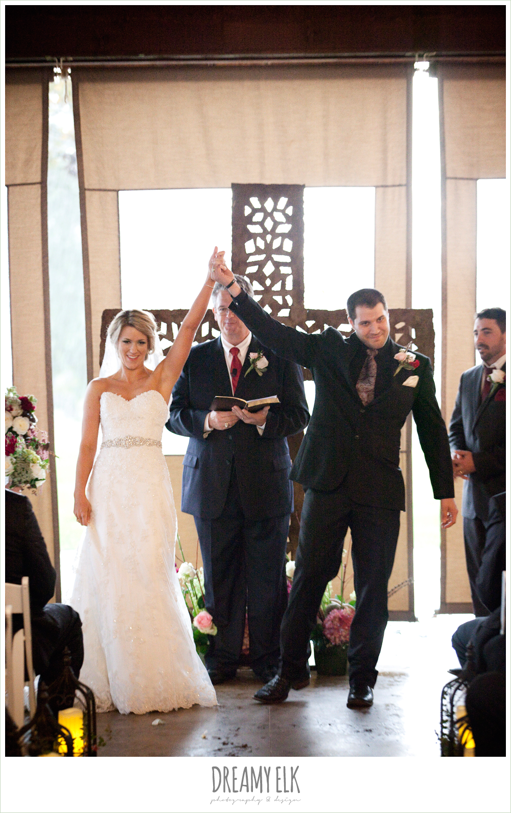 bride and groom during ceremony, fall wedding, rock lake ranch, dreamy elk photography and design